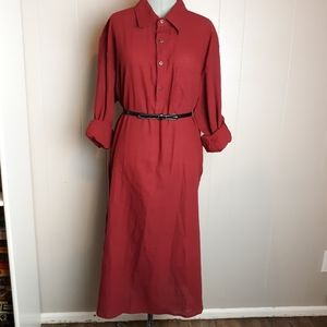 Vintage fitted shirt dress